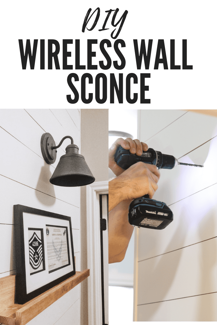 DIY Wireless Wall Sconce