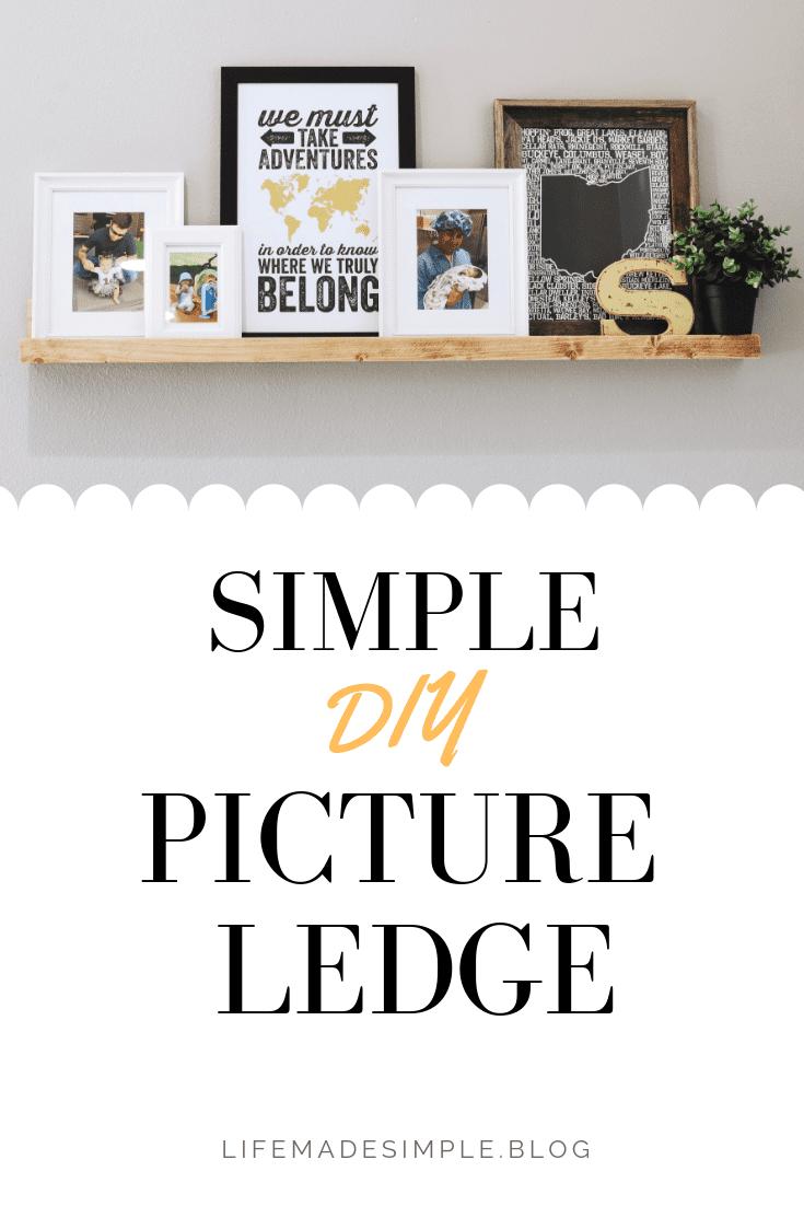 Simple DIY Picture Ledge Tutorial
