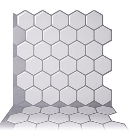 Hexa Mono White Tic Tac Tile