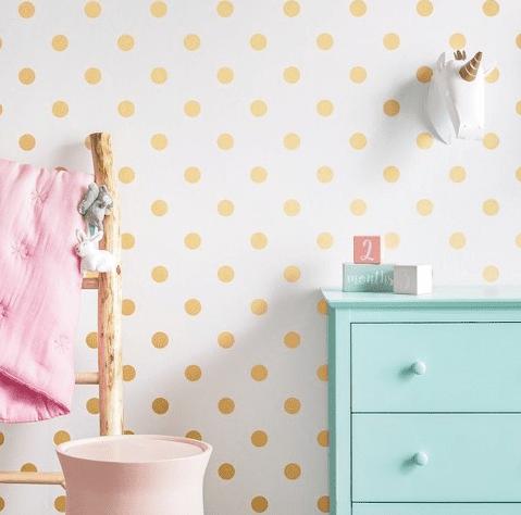 polkadot peel and stick wallpaper