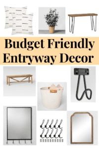 Budget Friendly Entryway Decor