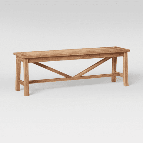Budget friendly entryway bench