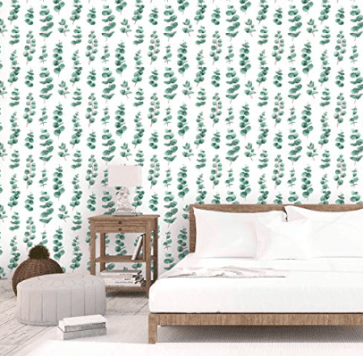 greenery peel and stick wallpaper
