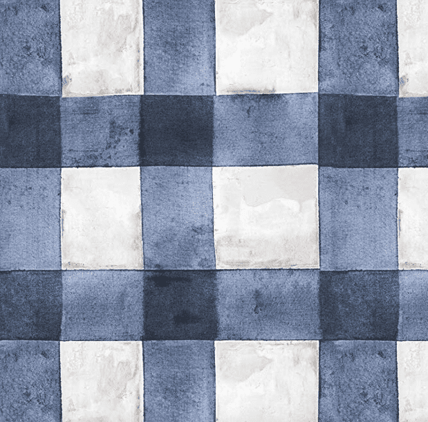 Blue peel and stick wallpaper