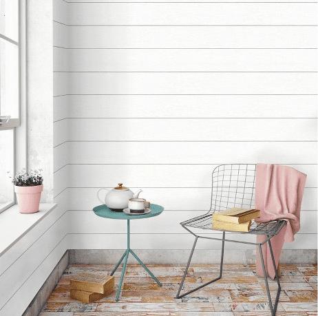 Shiplap peel and stick wallpaper