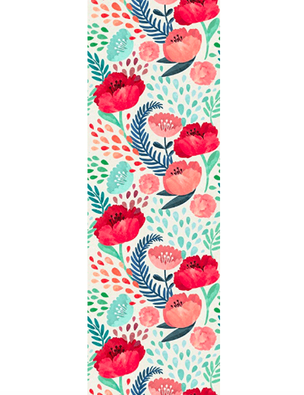 floral peel and stick wallpaper