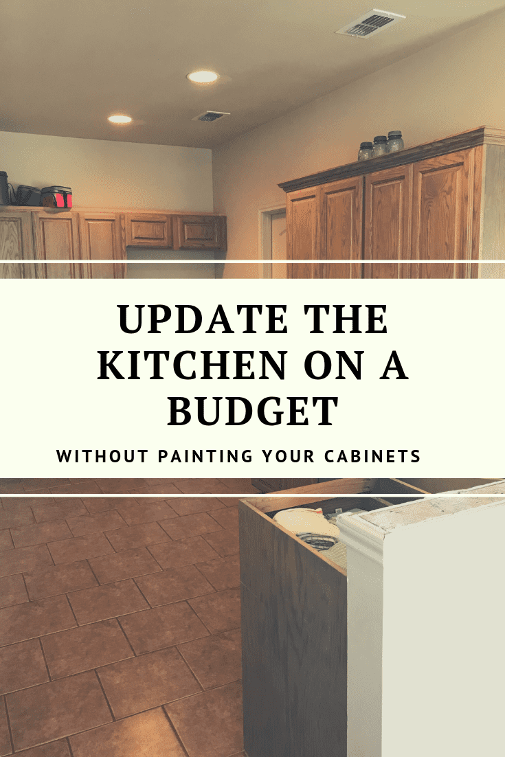 HOW TO UPDATE WOOD CABINETS-NO PAINTING