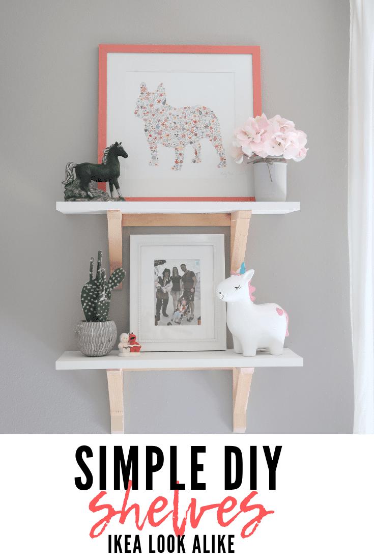 simple diy shelf | Ikea look alike
