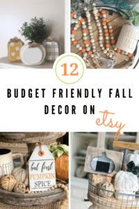 budget friendly fall decor on etsy