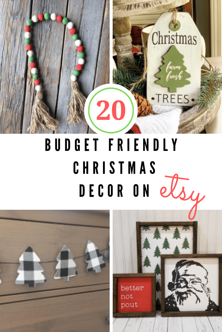 budget friendly christmas decor on etsy