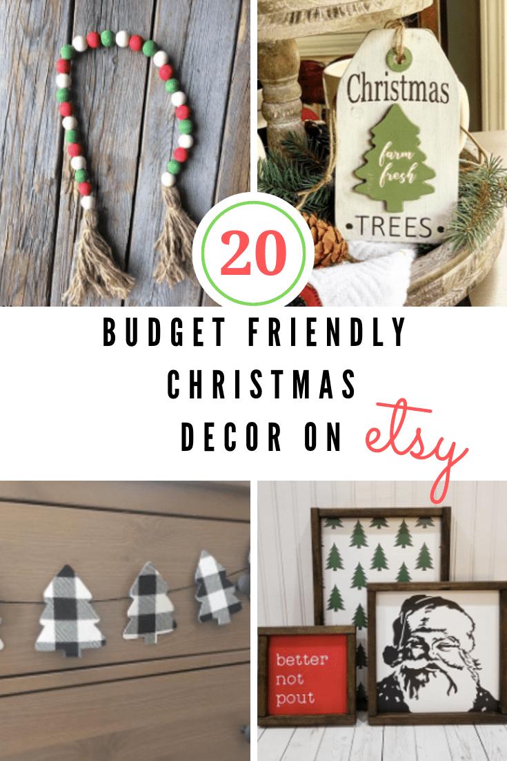 budget friendly christmas decor on etsy