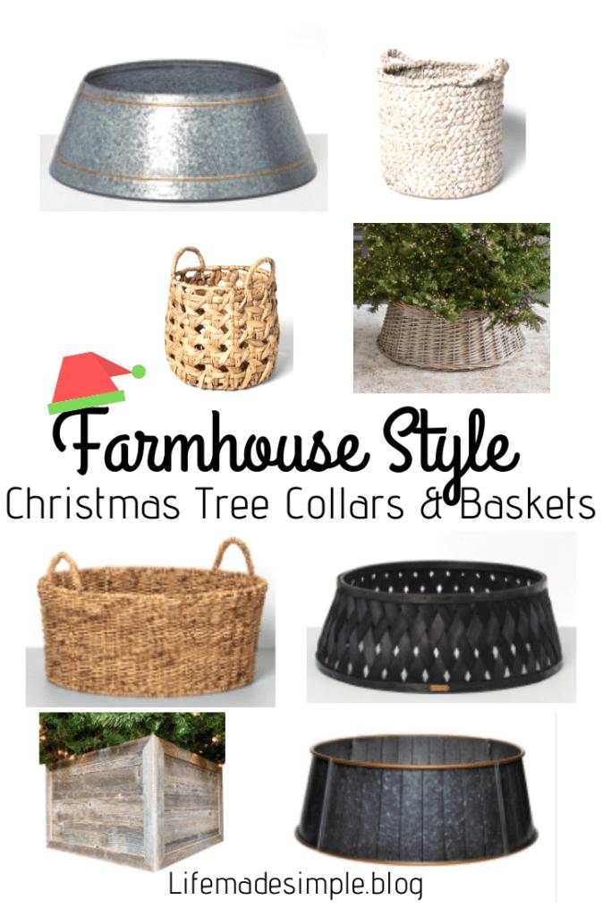 Christmas Tree Collars and baskets