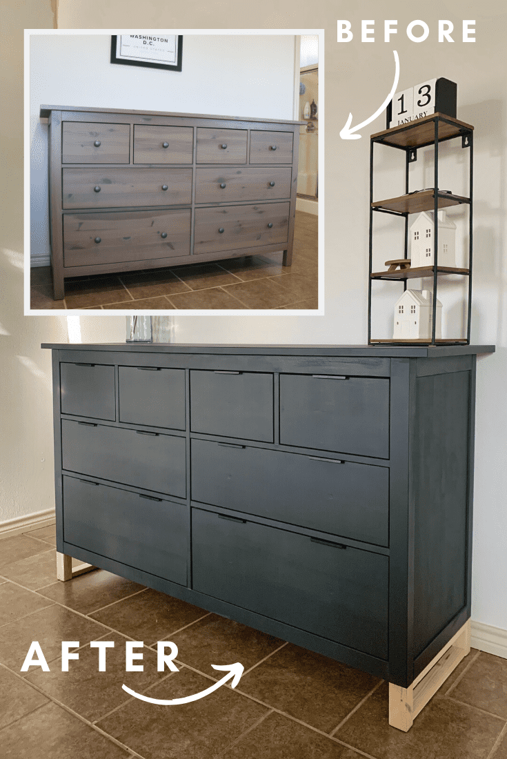How to Update Furniture [IKEA HACK] using Chalk Paint & New Hardware