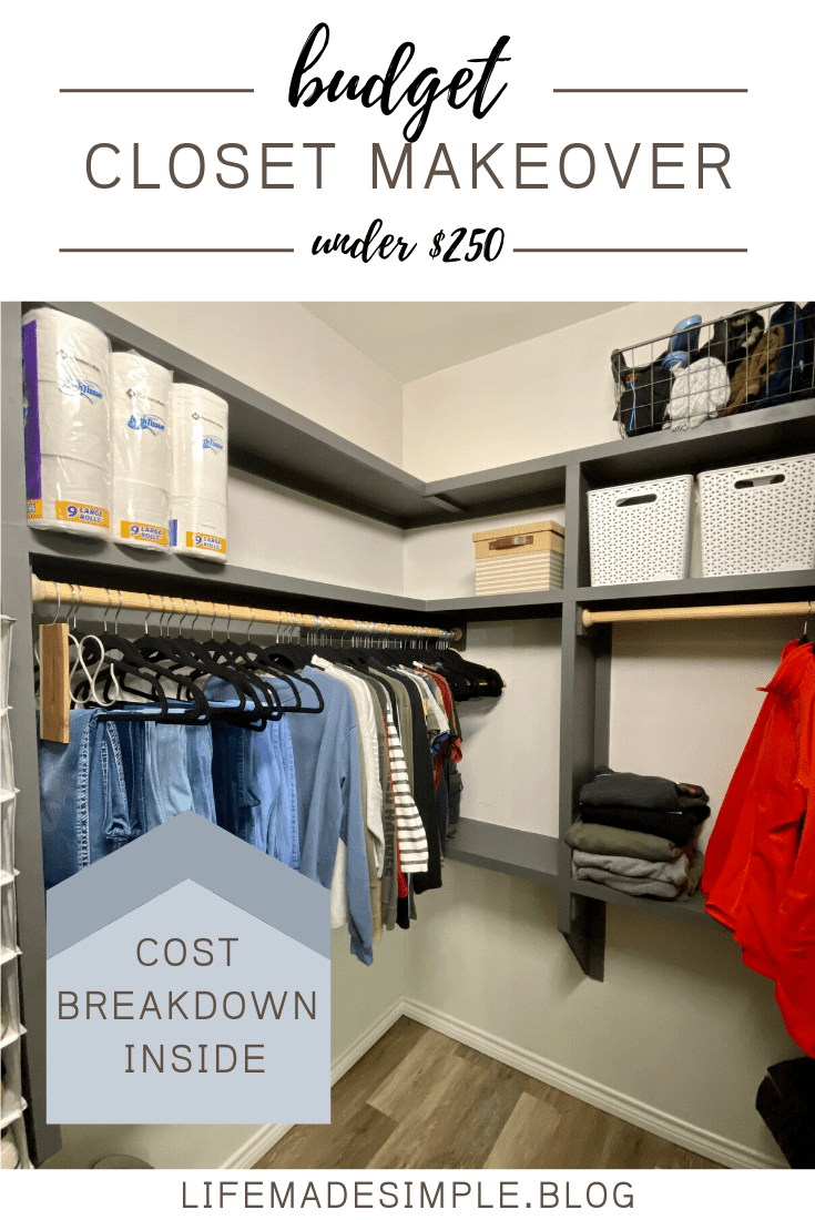 Closet Makeover + Organization tips for small closets