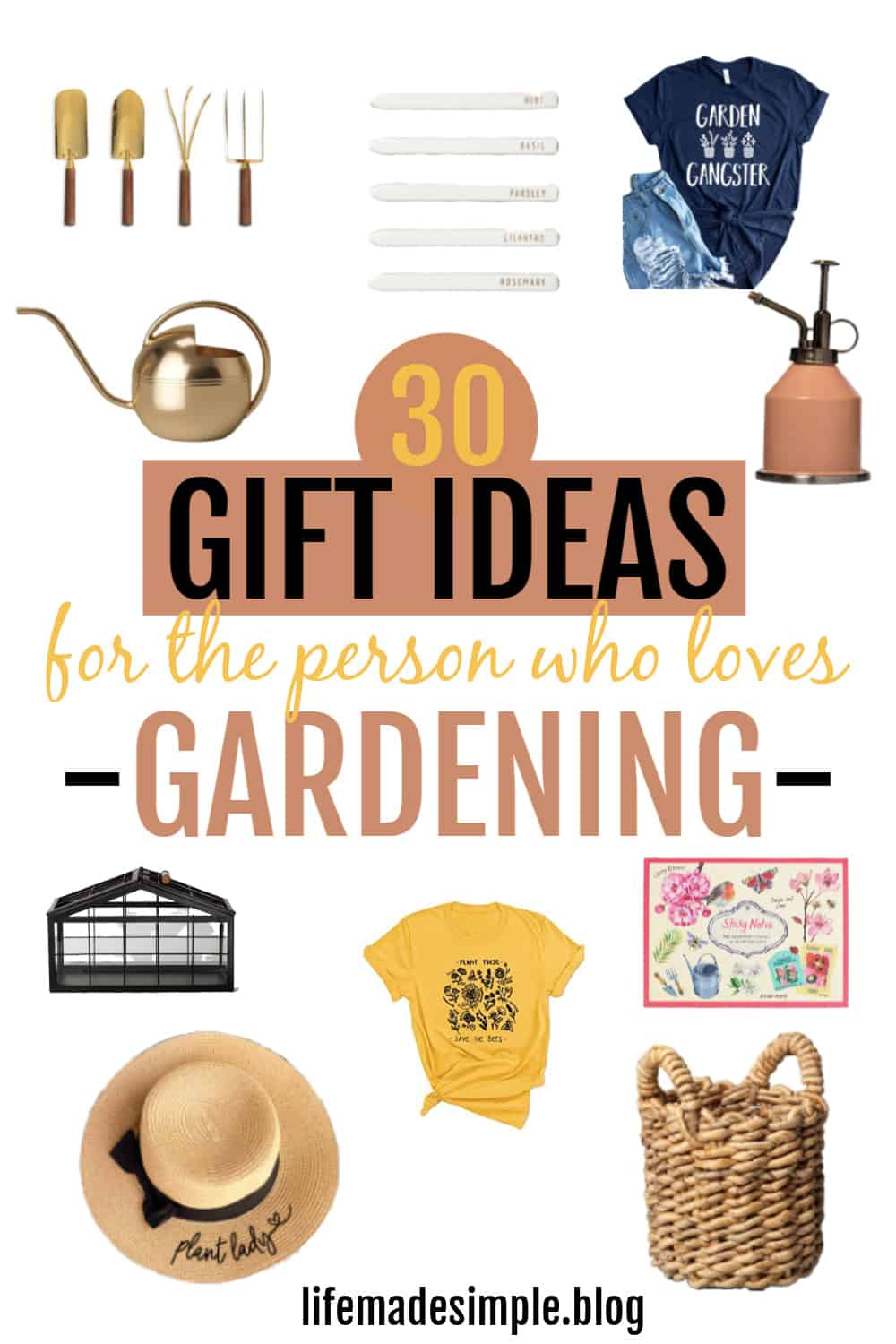 30 GARDENING GIFT IDEAS TO CREATE A GIFT BASKET