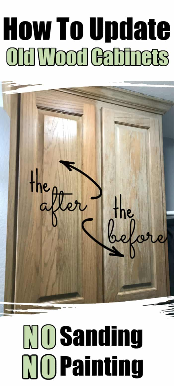 How to make oak cabinets look new again-no sanding or painting