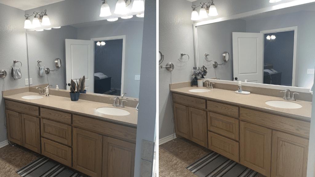 How to upgrade a bathroom mirror