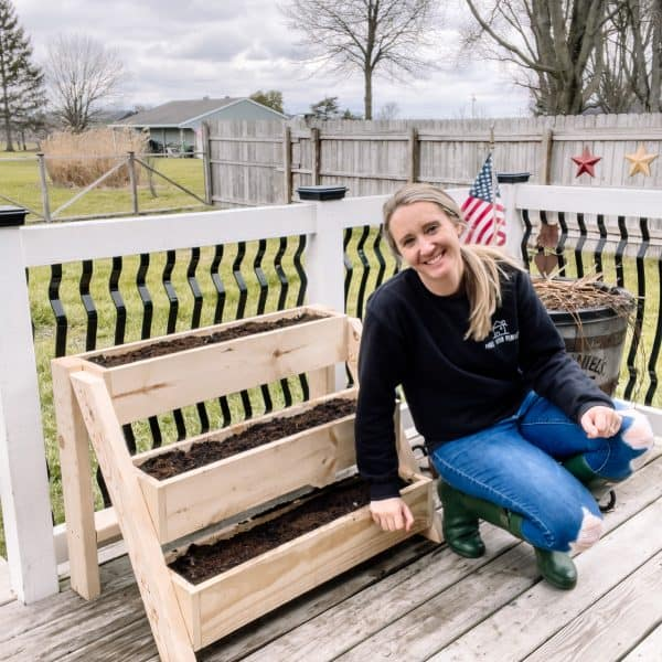 DIY raised garden planter