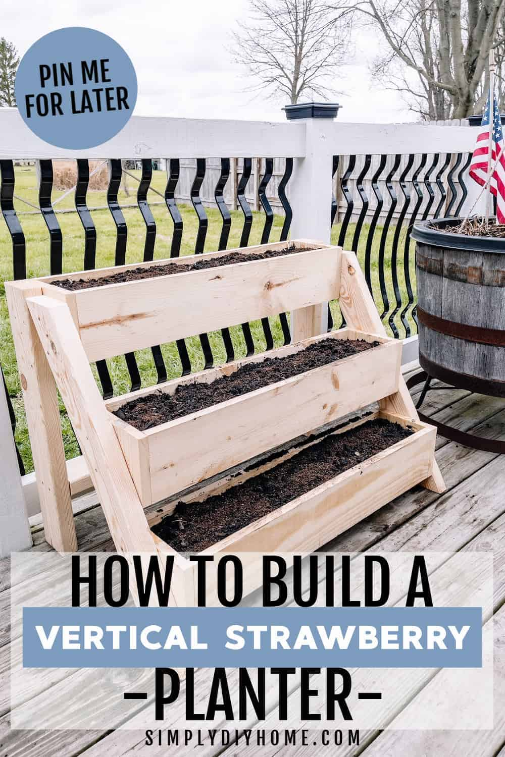 How to build a DIY Raised Garden Planter-Vertical 3 Tiered Strawberry Planter